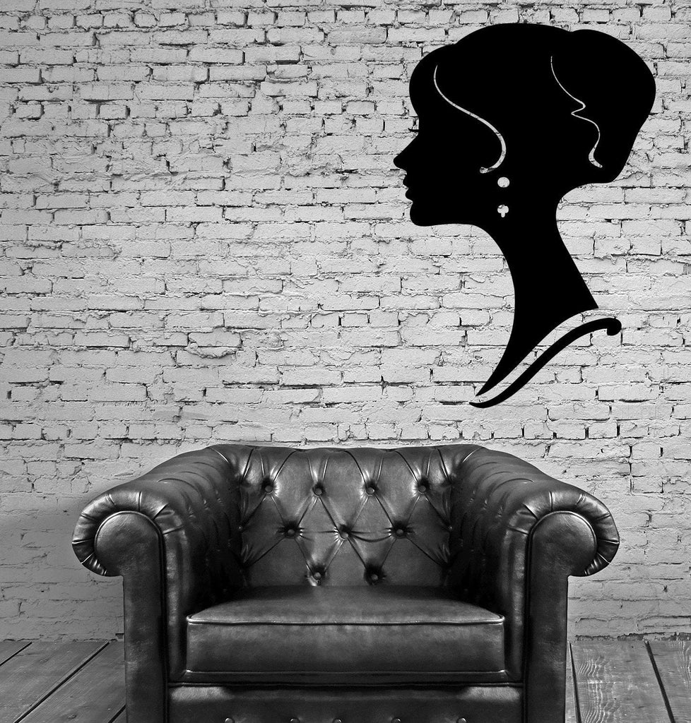 Profile Beautiful Woman Face Decor Wall Art Mural Vinyl Decal Sticker Unique Gift M463
