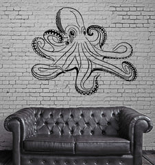 Octopus Ocean Marine Sea Decor Wall Mural Vinyl Art Decal Sticker Unique Gift M486