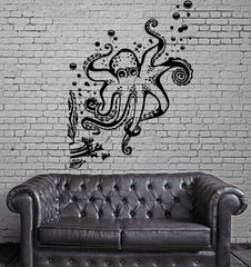 Octopus Seaweed Ocean Marine Sea Decor Wall Mural Vinyl Art Decal Sticker Unique Gift M490