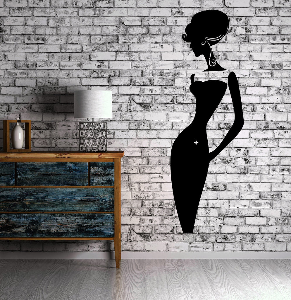 Beautiful Sexy Woman Classy Fashion Model Wall Decor Mural Vinyl Decal Art Unique Gift M552