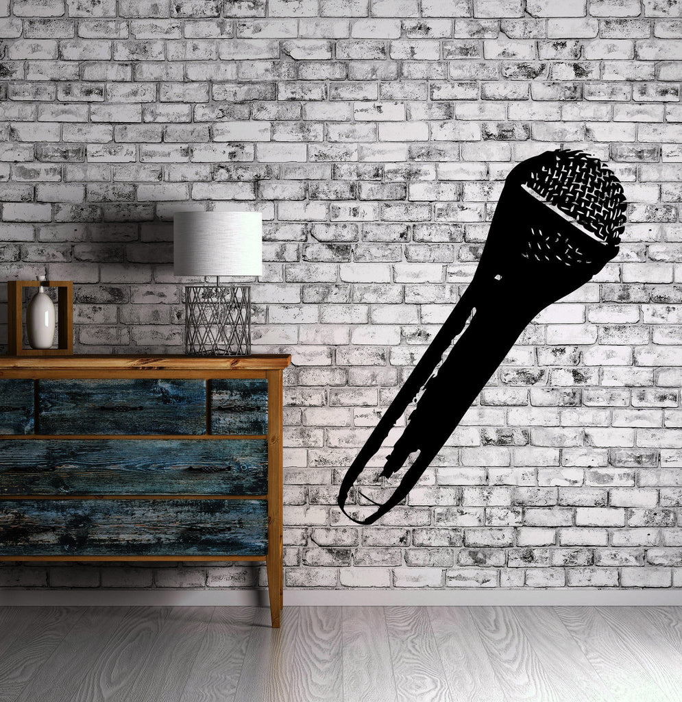 Hand Microphone Music Concert Rock Wall Decor Mural Vinyl Decal Art Sticker M555