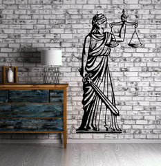 Greek Goddess of Justice Themis Wall Decor Mural Vinyl Decal Art Sticker Unique Gift M561