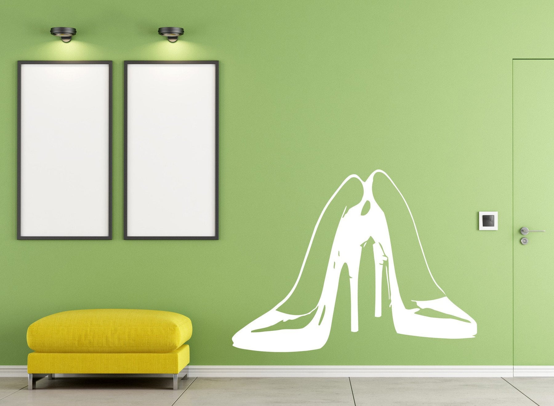 Vinyl Decal Wall Sticker Pair female high heel stylish shoes Unique Gift (m564)