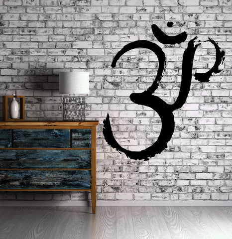 Wall Decal Fire Yoga Symbol Om Spiritual Sanskrit Decor Vinyl Art Sticker M574