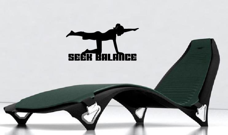 Vinyl Decal Wall Sticker Seek Balance Keep Shape Life Style Sport Unique Gift (M579)