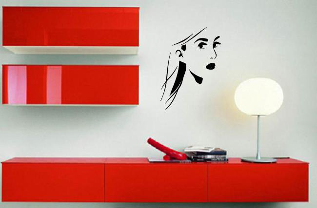 Vinyl Decal Wall Sticker Mysterious Woman's Face Beautiful Girl Unique Gift (M590)