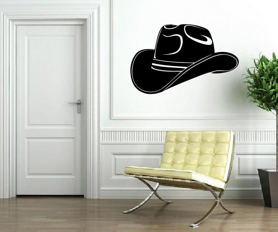Vinyl Decal Wall Sticker Cowboy Hat Texas Lone Star State Unique Gift (M596)