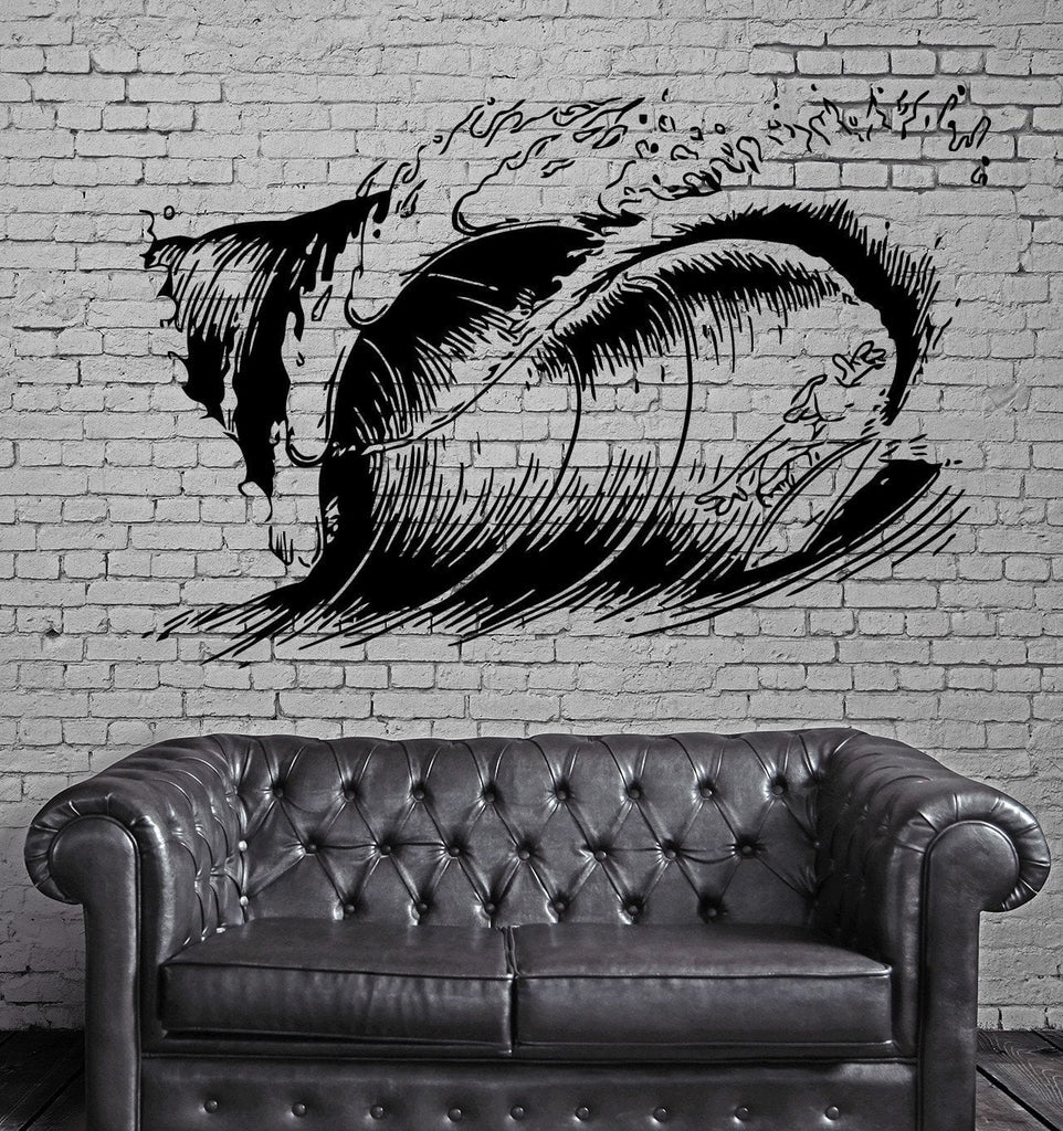 Big Ocean Wave Surfing Fun Water Sports Surfer Wall Mural Vinyl Art Sticker M601