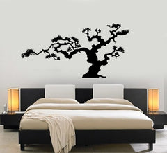 Japanese Bonsai Tree Nature Decor Japan Island Wall Sticker Vinyl Decal Unique Gift (m612)