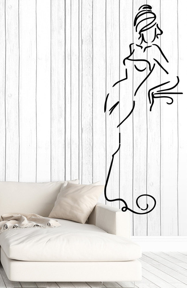 Vinyl Decal Wall Sticker Beautiful Sexy Lady Ball Dress Living Room Decor Unique Gift (M625)