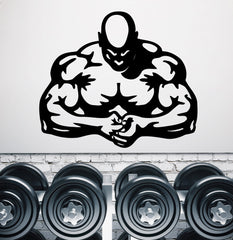 Vinyl Decal Wall Sticker Big Strong Muscular Man Decor for Fitness Hall Unique Gift (M645)