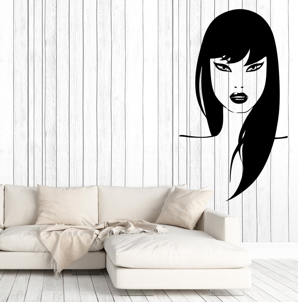 Vinyl Decal Wall Sticker Beauty Woman Face Sexy Girl Beauty Salon Decor Unique Gift (m621)