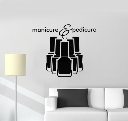 Vinyl Decal Wall Sticker Bottles Ornate Nail Polish with Ornament n865