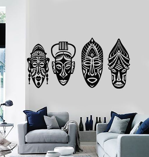 Vinyl Wall Decal Hunting Club Hunter Camping Arrows Ethnic Style Stickers 2765ig