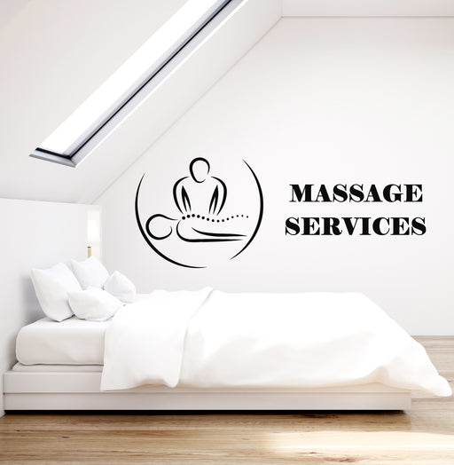 Vinyl Wall Decal Health Massage Beauty Body Spa Relax Decor Stickers g275