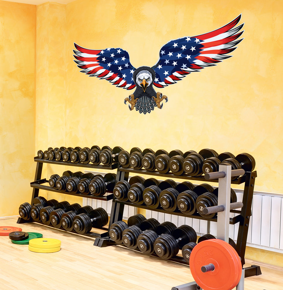 American Flag Eagle Peel and Stick Patriotic Cool Interior Exterior Mural for Walls or Cars mc001