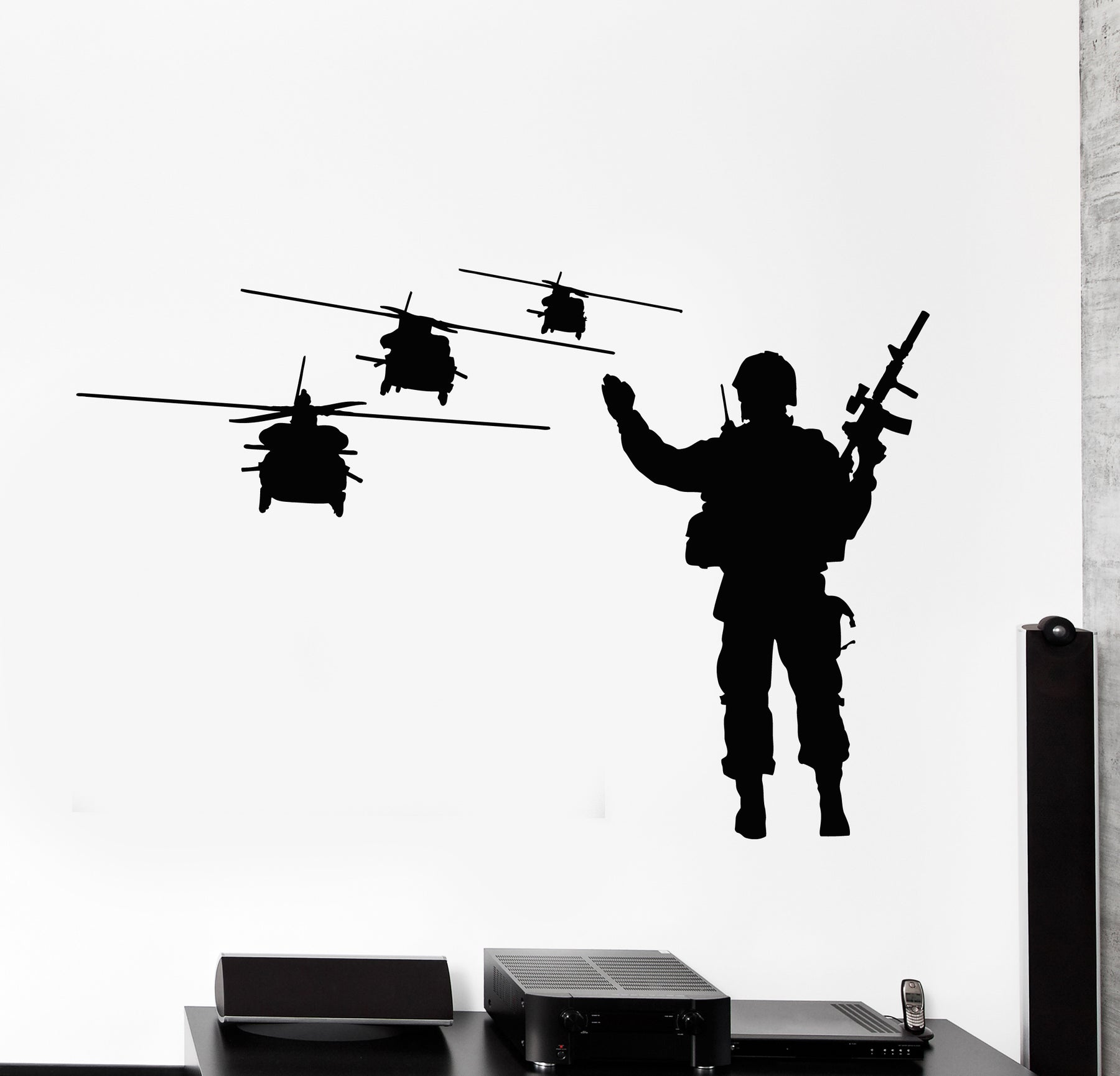 Vinyl Wall Decal Soldier Helicopters Aviation MIlitary Army Air Force Stickers Mural (g932)