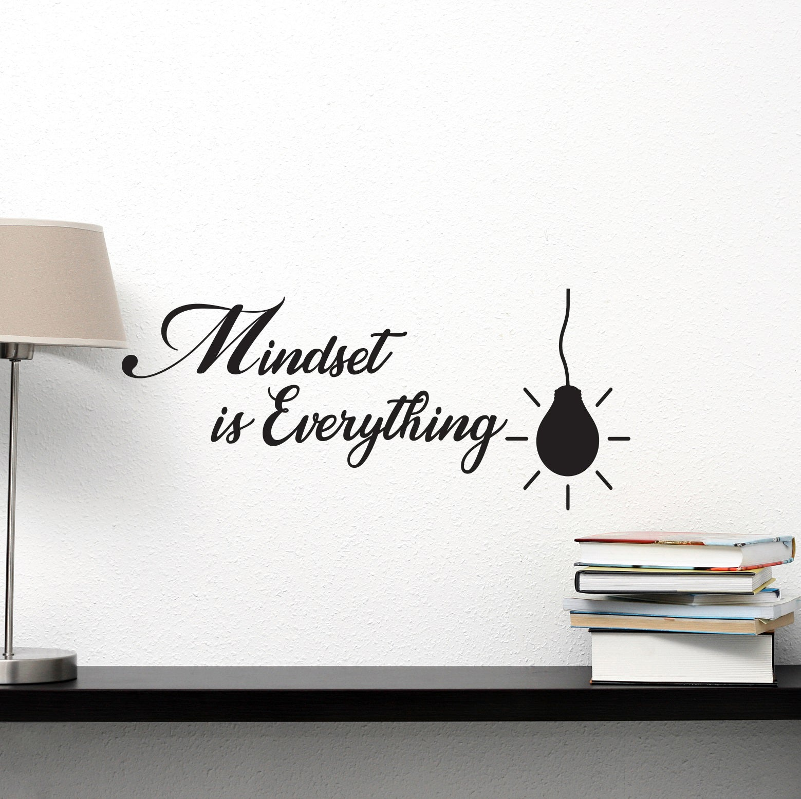 Vinyl Wall Decal Mindset is Everything School Classroom Office Inspirational Words Quote Phrase Stickers ig6242 (22.5 in X 10 in)