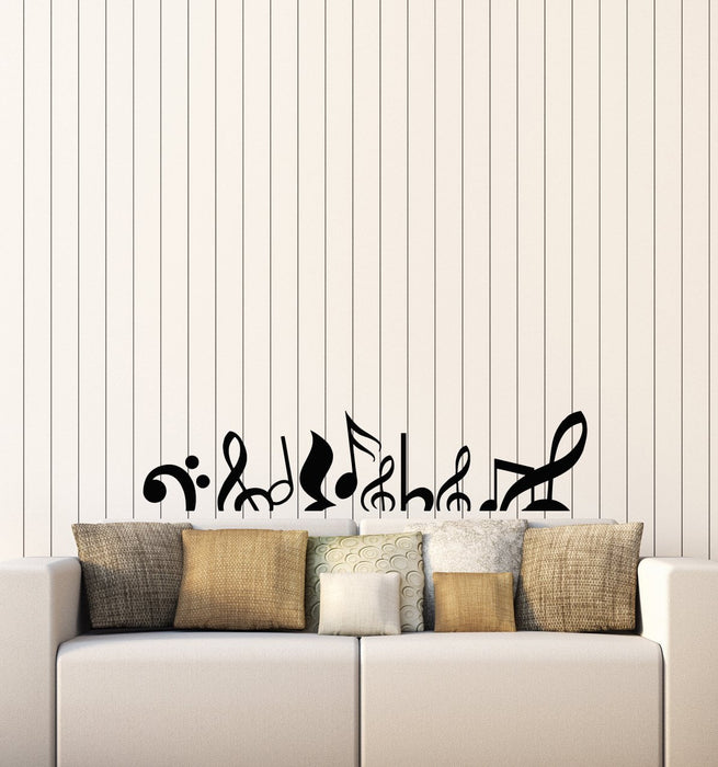 Musical Notes Vinyl Wall Decal Music Above Bed Sofa Room Decor Art Stickers Mural (ig5326)