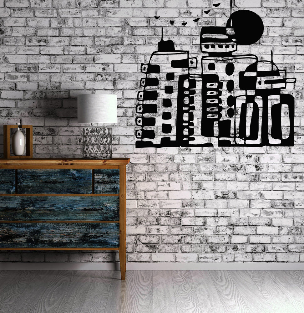 Vinyl Decal Fun and Fantastic Image Wall Stickers Cartoon City Game Animation Comic Strip Unique Gift (n011)