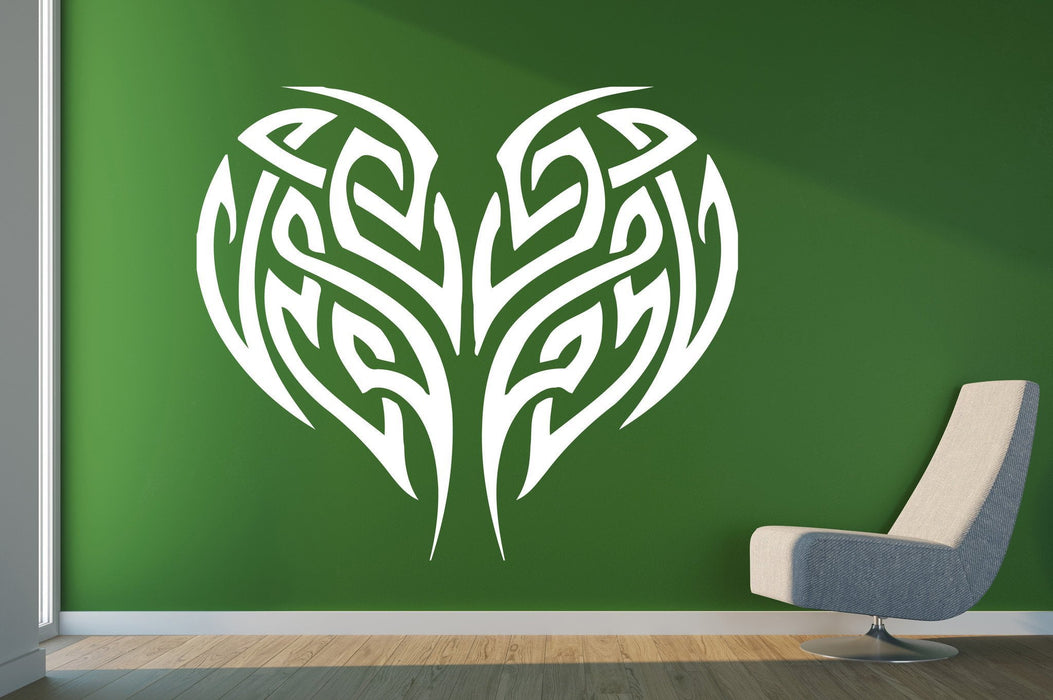 Vinyl Decal Abstract Stylized Wall Stickers Heart Line Love Tenderness Unique Gift (n013)
