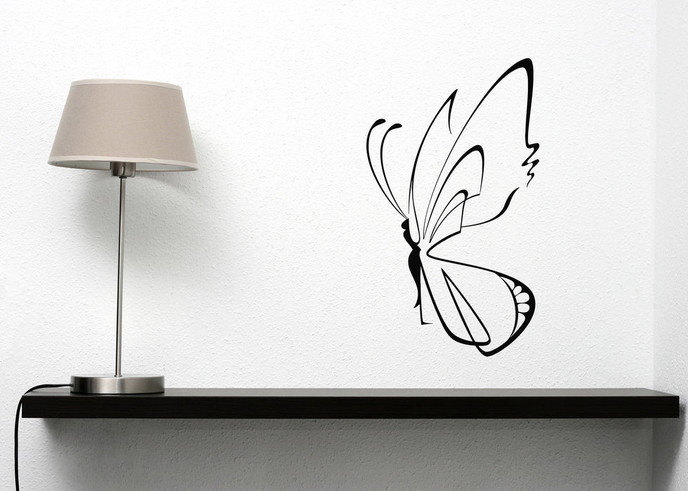 Vinyl Decal Room Decor Wall Sticker Beautiful Butterfly Wings Magnificent Symbol Rebirth  Unique Gift (n016)