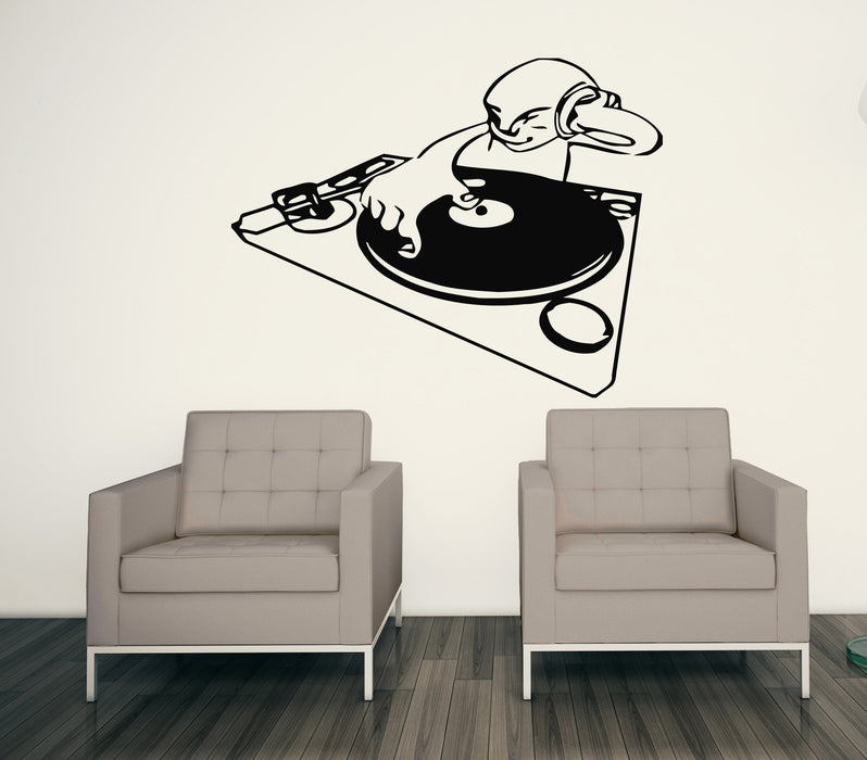 Vinyl Decal Musical Wall Stickers DJ Night Club Trance House Music TV Hip Hop Unique Gift (n018)