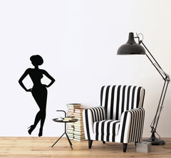 Vinyl Decal Women's Wall Sticker French Model Fashion Design London Paris Tokyo New York Unique Gift (n019)