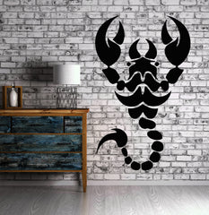 Vinyl Decal Scorpion Claws Tail Animals And Nature Wall Sticker Unique Gift (n030)