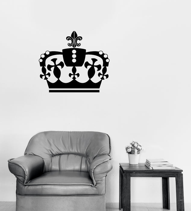 Vinyl Wall Decal Crown's King Sign Kingdom Home Interior Decor Unique Gift (n1282)