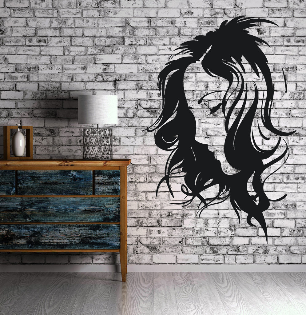 Beauty Salon Decor Wall Sticker Vinyl Decal Beautiful Girl Sexy Hairstyle Unique Gift (n196)