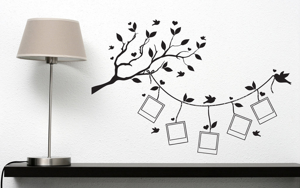 Vinyl Wall Sticker For Family Decal Tree Branch Leaves Stylized ...