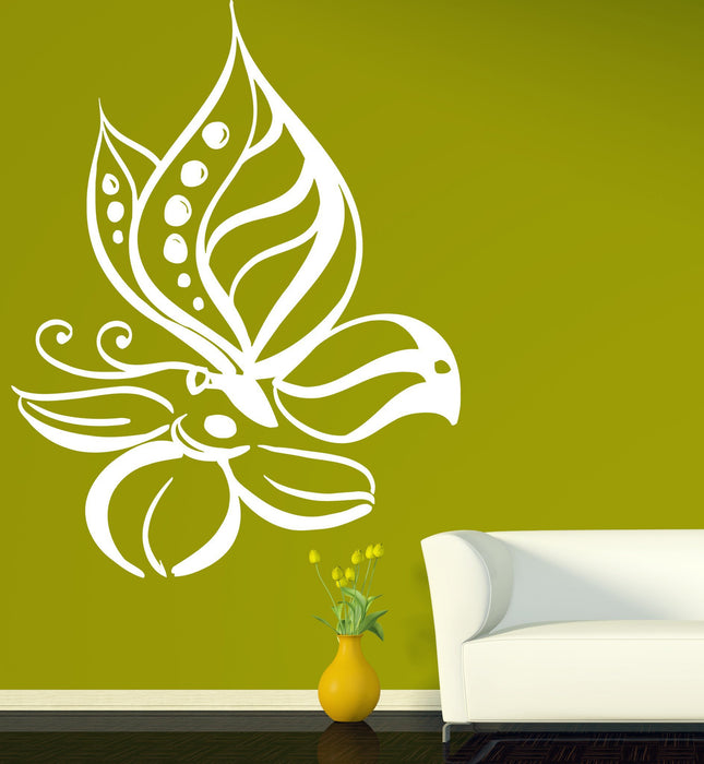 Vinyl Decal Floral Ornament Wall Stickers Magical Dreamlike Beautiful Magnificent Flower Unique Gift (n347)
