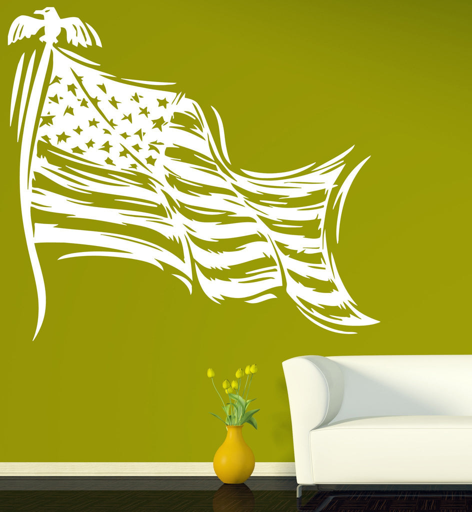 Vinyl Decal Patriotic Decor Wall Sticker Stars Striped Symbol of the ...