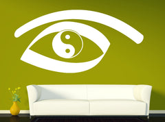 Vinyl Decal Eastern Teaching Wall Sticker Yin Yang Symbol Ancient Chinese Philosophy Living Room Decor Unique Gift (n382)