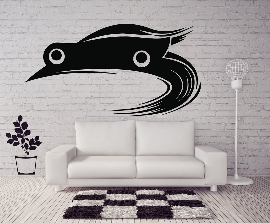 Vinyl Decal Wall Sticker Super Cool Car Racing for Real Racers Decor Art Unique Gift (n390)