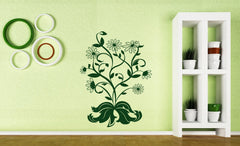 Vinyl Decal Floral Motif Wall Sticker Bush Camomiles Beautiful Bouquet of Flowers Unique Gift (n391)