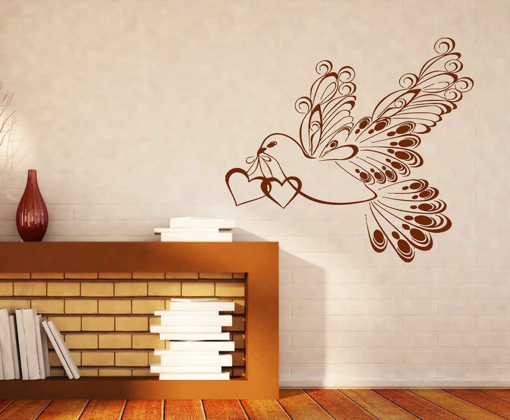 Vinyl Decal Decor for Living Room Wall Sticker White Dove Symbol ...
