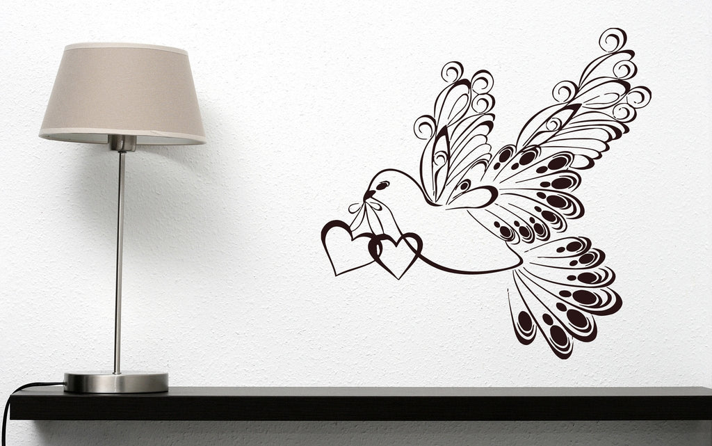 Vinyl Decal Decor For Living Room Wall Sticker White Dove Symbol