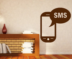 Vinyl Decal Communication and IT Wall Stickers Phone SMS Messages Communication Link Unique Gift (n411)