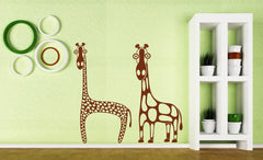 Vinyl Decal Animal Nature Decor Wall Sticker African Wild Giraffe Long Neck Unique Gift (n427)