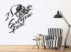 Vinyl Decal Sport Games  Wall Stickers I Love Extreme Paintball Game Unique Gift (n430)
