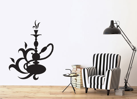 Vinyl Decal Device Smoking Area Hookah Smoke Aroma Oriental Wall Stickers (n436)