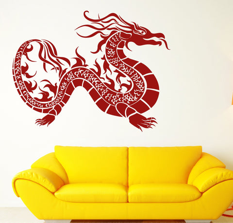 Vinyl Decal Oriental Dragon Mythological Fantasy Creature Wall Stickers (n441)