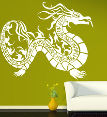 Vinyl Decal Oriental Dragon Mythological Fantasy Creature Wall Stickers Unique Gift (n441)