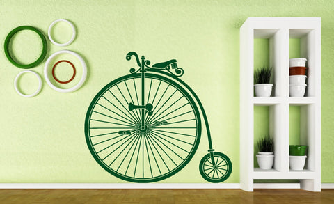 Vinyl Decal Wall Stickers Vintage Bicycle Wheel Great Little Pedal Wheel Seat (n451)