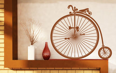 Vinyl Decal Wall Stickers Vintage Bicycle Wheel Great Little Pedal Wheel Seat Unique Gift (n451)