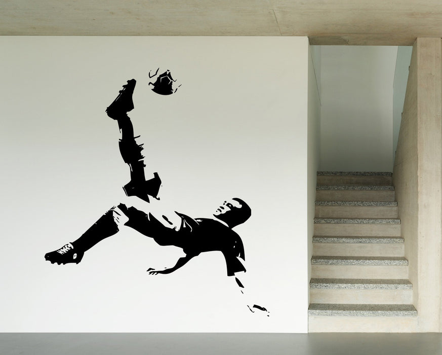 Large Wall Vinyl Decal Coccer Player Sport Ball Sport Decor Unique Gift z4549
