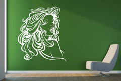 Vinyl Decal Wall  Sticker Decal Silhouette Sexy Lady Beautiful Hair Unique Gift (n479)