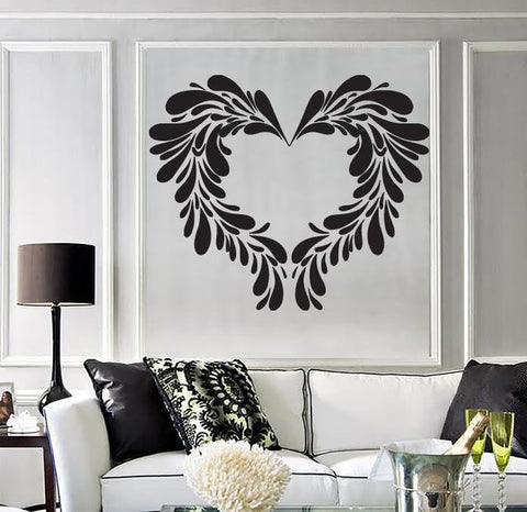 Vinyl Decal Perfect Photo Frame as Heart For Living Room  Wall Stickers  (n483)